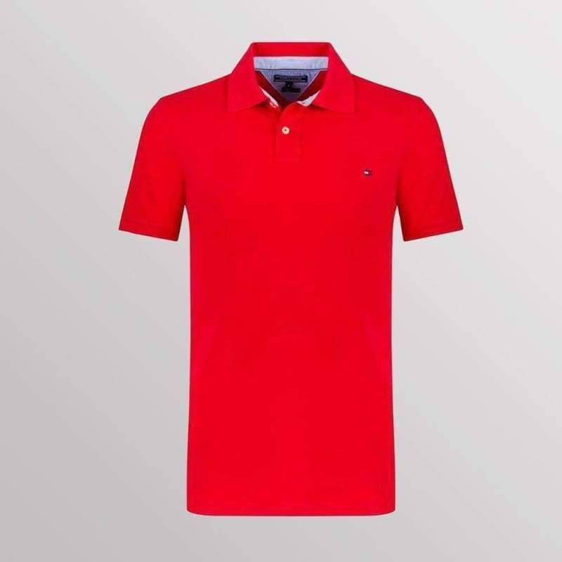 TOMMY HILFIGER POLO RED