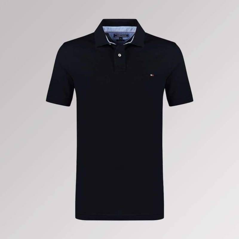 TOMMY HILFIGER POLO BLACK