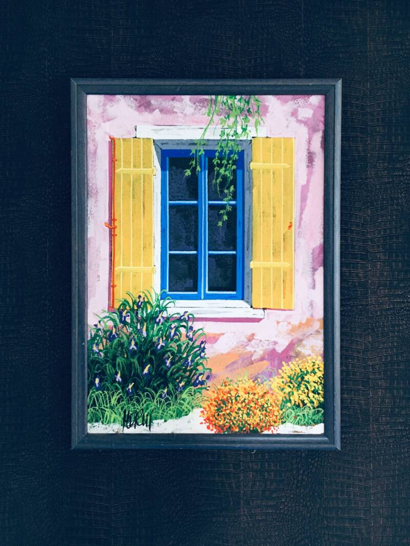 'Summer House' Original Art Painting on Canvas HD Reij 1990's Holland