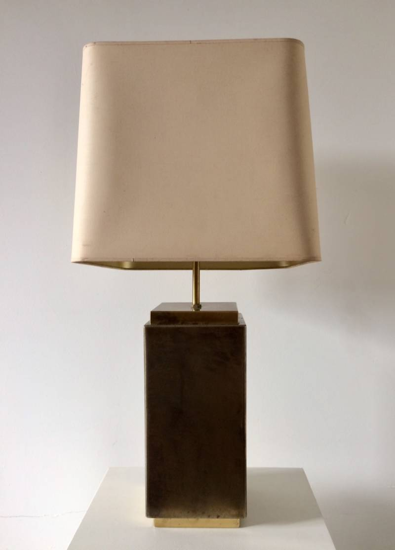 Midcentury Design Brass Adjustable Hight Table Lamp 1960's