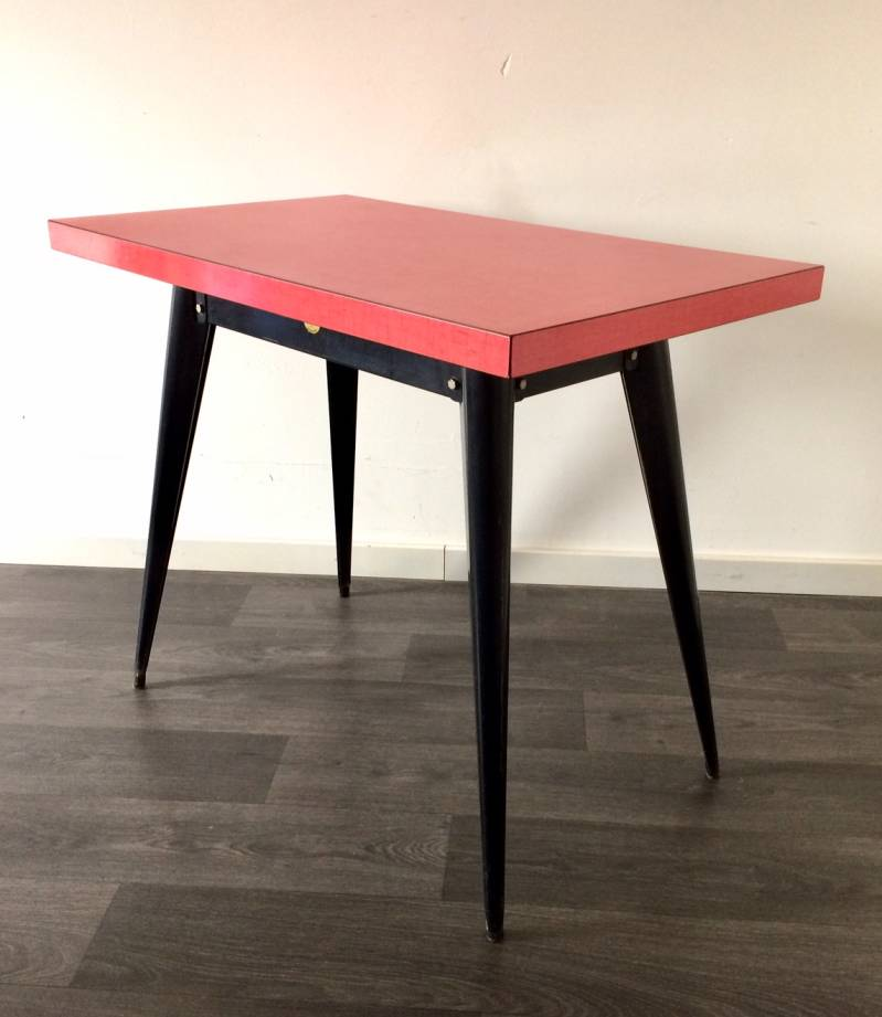 Vintage Midcentury Industrial Design Tolix Bistro Table by Xavier Pauchard 1950's France