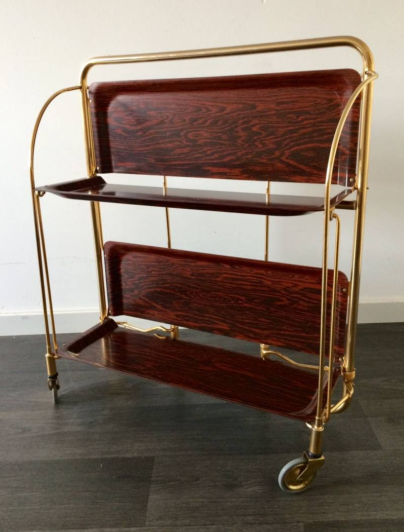 Vintage Bremshey & Co Gerlinol Design DINETT Serving Trolley 1960's