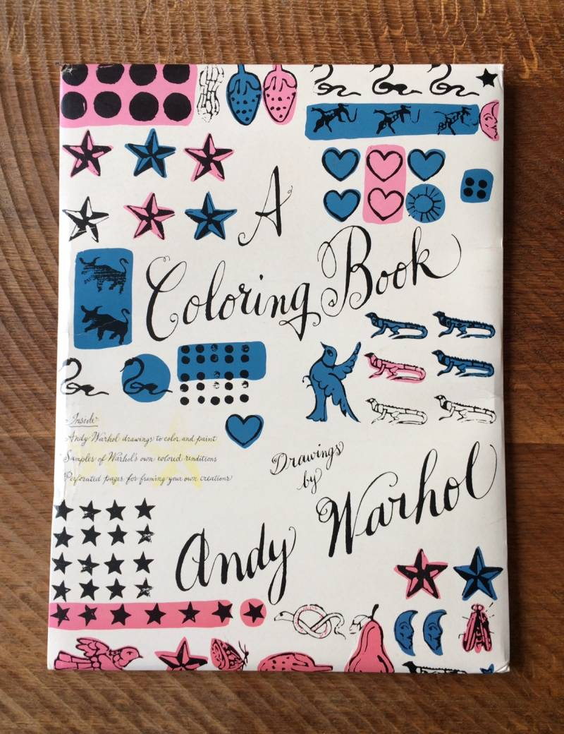 "Andy Warhol ""A COLORING BOOK"" Oversize Pop Art Color Book 1990 Callaway Books"