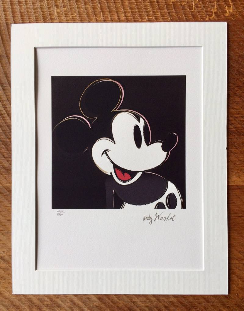 1986 Andy Warhol CMOA Limited Edition MICKEY MOUSE litho print Black n°1873
