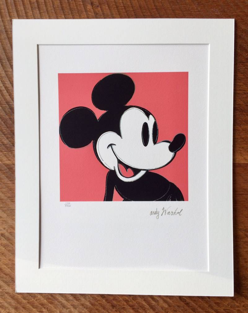1986 Andy Warhol CMOA Limited Edition MICKEY MOUSE litho print Red n°1120
