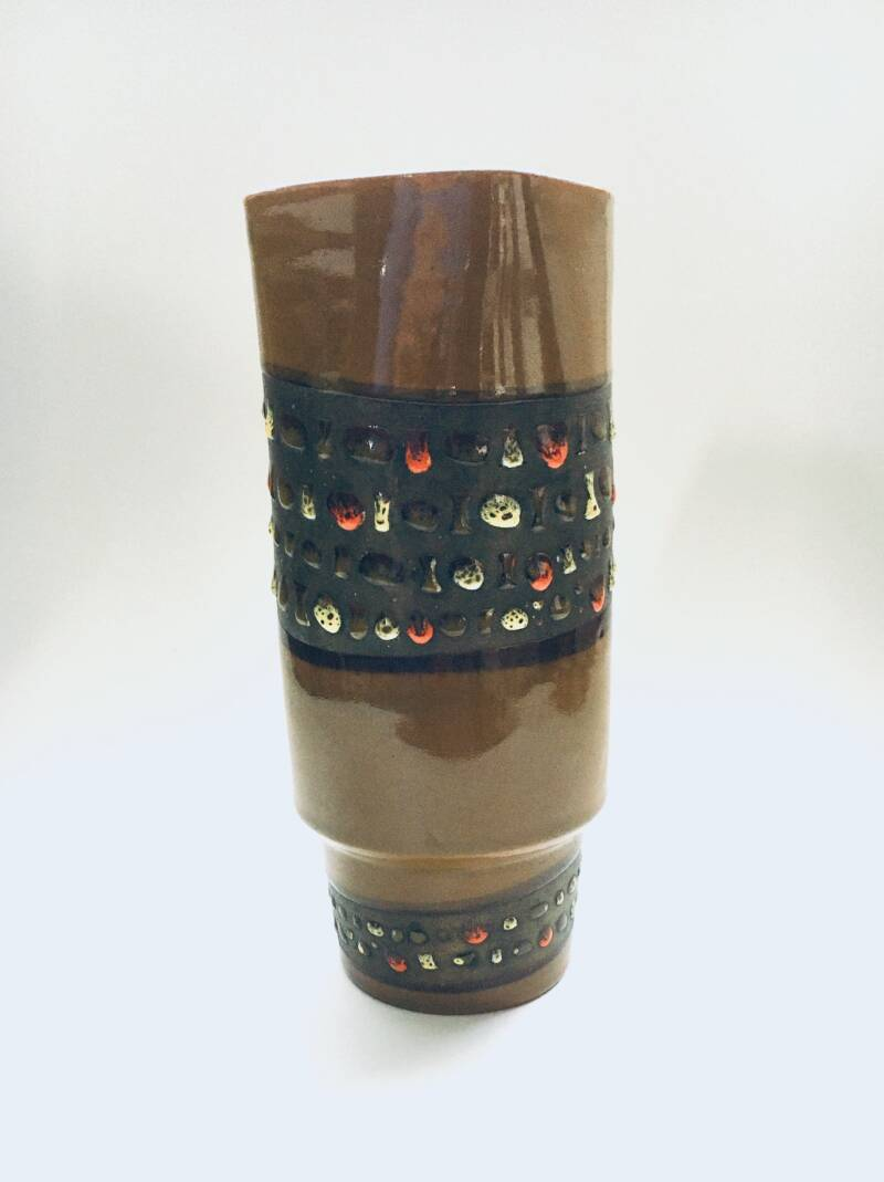 Vintage Art Pottery Vase by Bitossi Italy 1960's