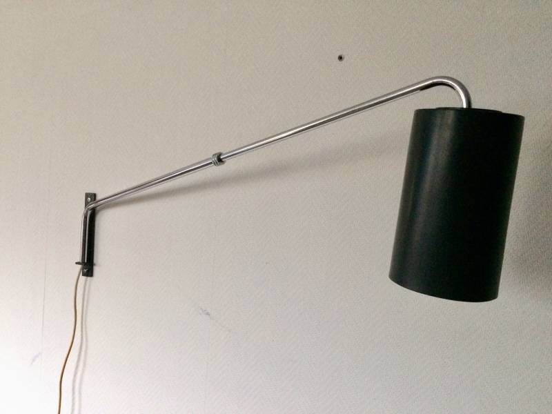Midcentury 1960's Design Extendable Cylinder Wall Lamp