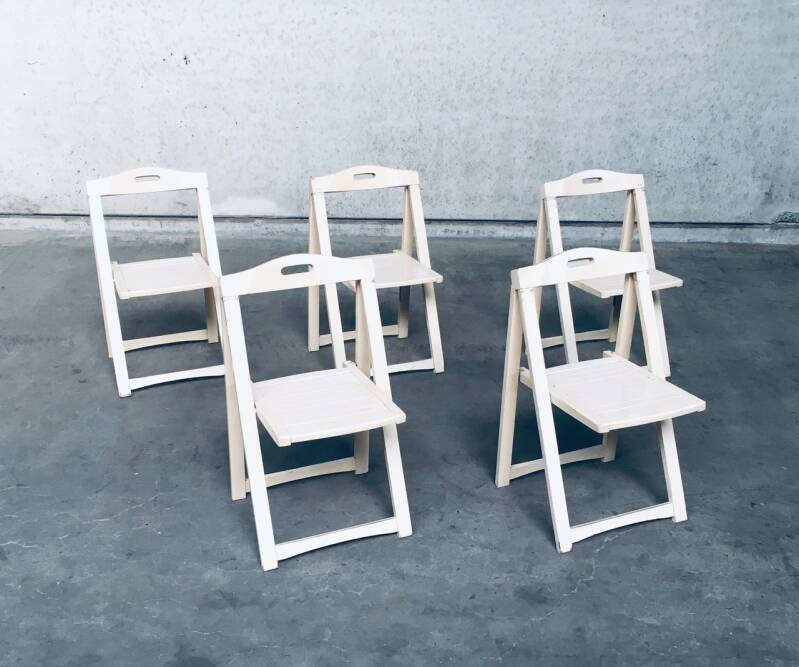 Midcentury Modern Folding Chairs by Aldo Jacober for Alberto Bazzani, Italy, 1960's