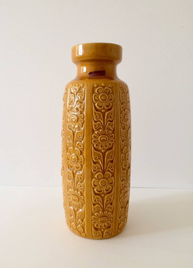 Vintage West Germany Large Ceramic Flower Vase by Scheurich 1960's