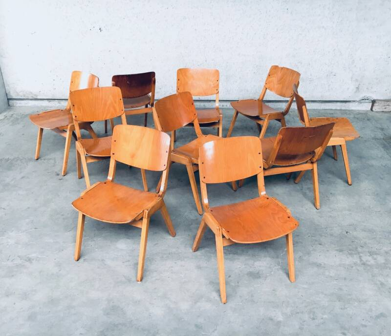 Midcentury Modern Design Stacking Chair by Thonet, Germany 1960's