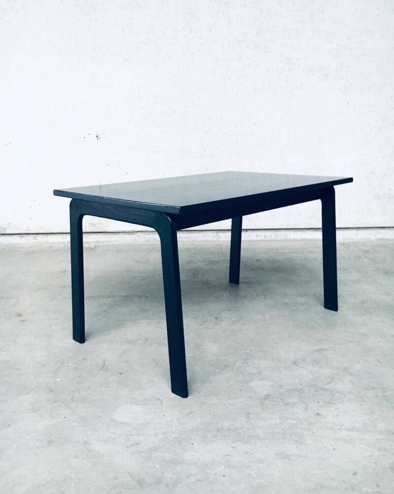 Vintage 1970's Black Stained Wood Dining Kitchen Table