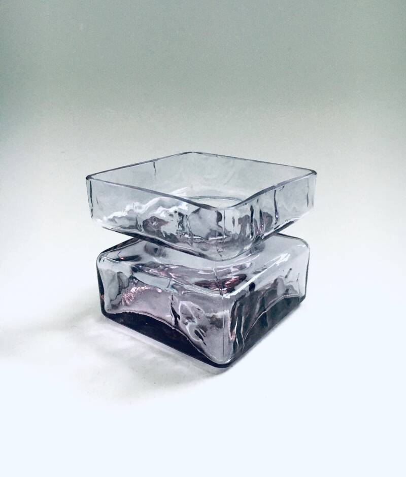 Pala Glass Vase by Helena Tynell for Riihimaen Lasi, Finland 1960's