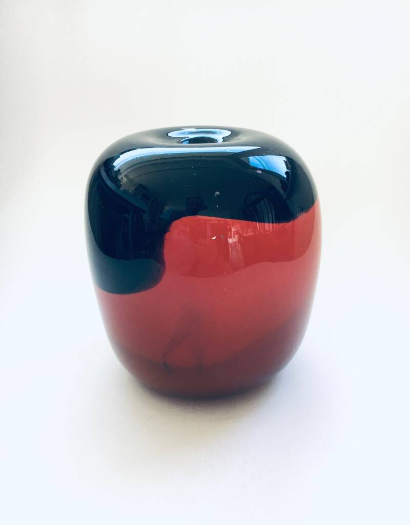 1980's Handblown One of a Kind Art Glass Vase Object