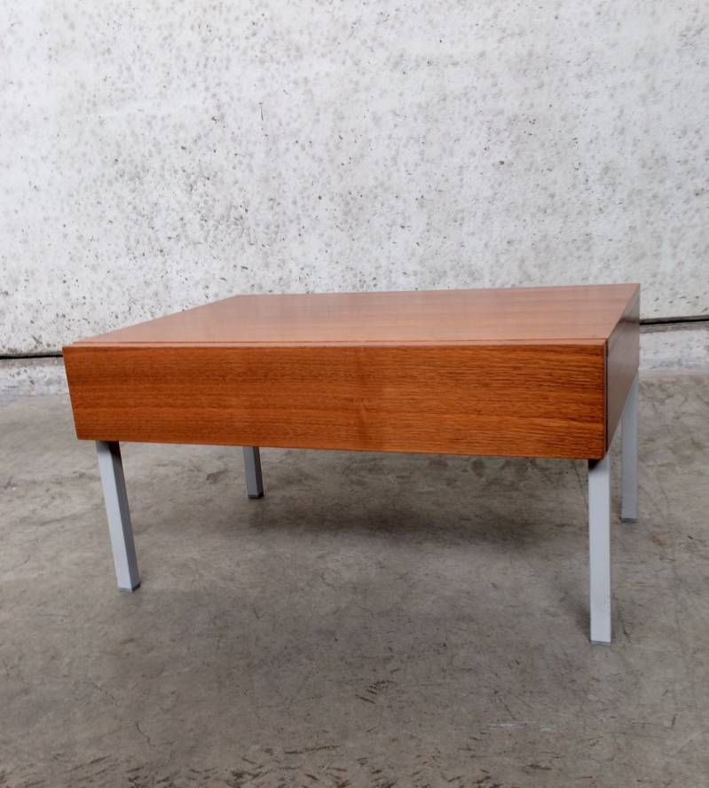 1960's Rosewood Nightstand Sidetable w drawer by Interlübke Design