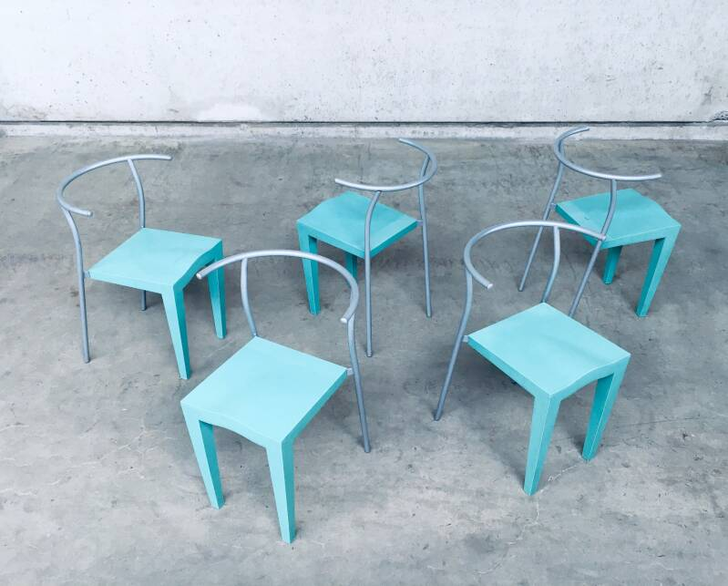 Postmodern Design Dr. Glob Dining Chairs by Philippe Starck for Kartell, Italy 1988