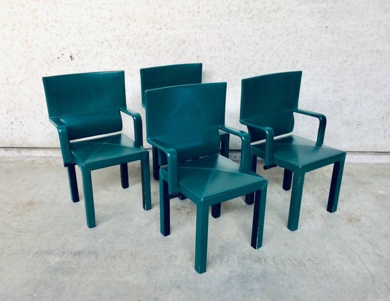 Postmodern Design B&B Italia Arcadia Arcona Dining Arm Chair set of 4 by Paolo Piva, 1980's Italy