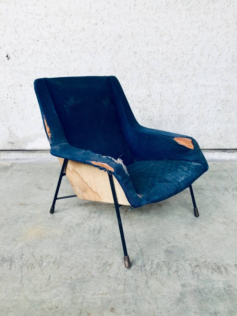 Original S12 Model Lounge Chair 1 by Alfred Hendrickx for Belform, Belgium 1958