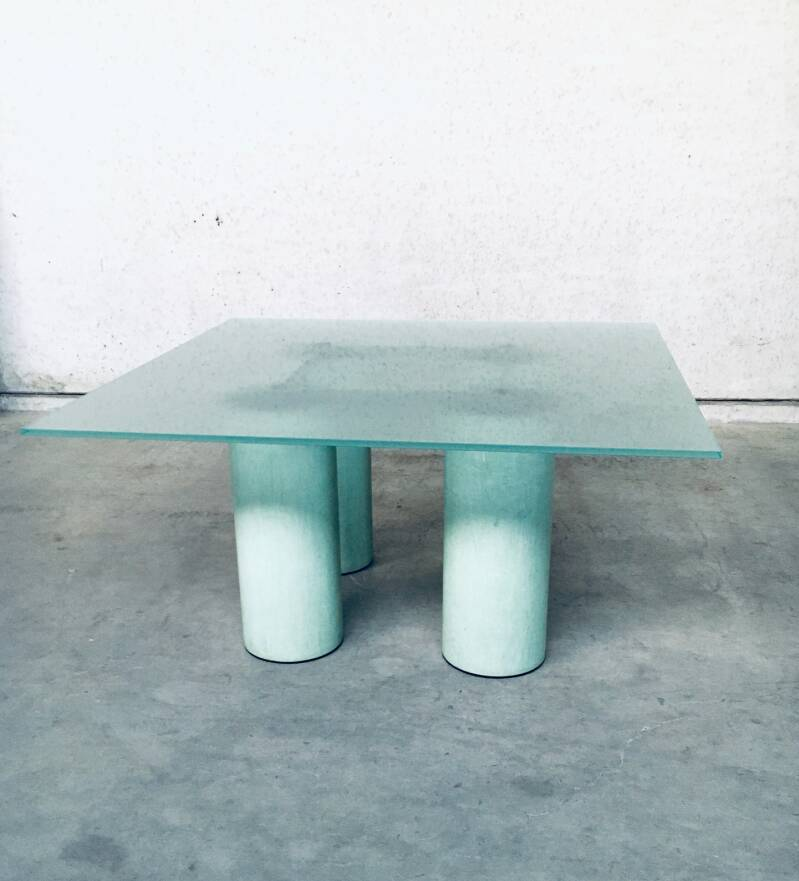 Postmodern Architectural Design 'Serenissimo' Square Dining Table by Lella & Massimo Vignelli for Acerbis, Italy 1980's