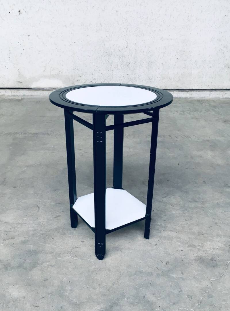 Galaxy Round Side Table by Umberto Asnago for Giorgetti, Italy 1980's