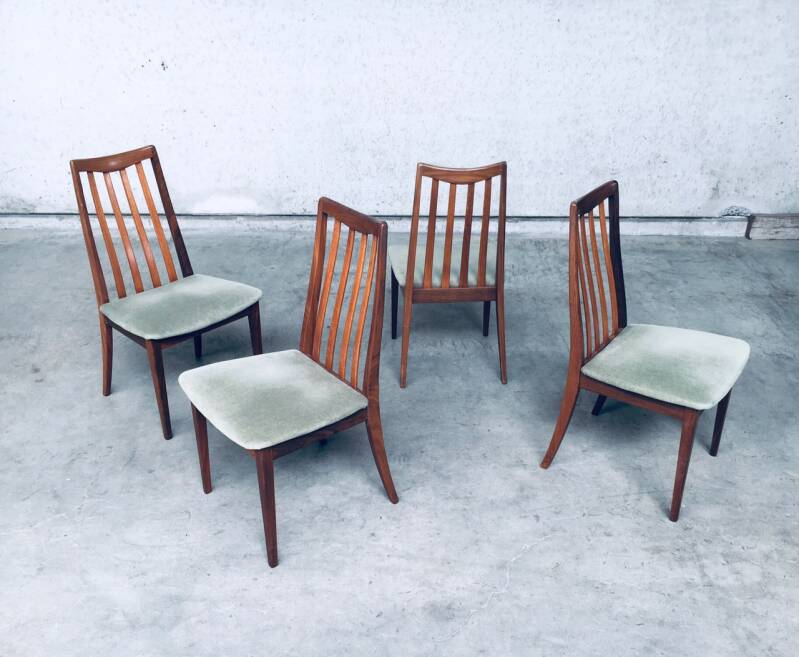 Midcentury Modern Design Dining Chair set by Leslie Dandy for GPlan, England 1960's