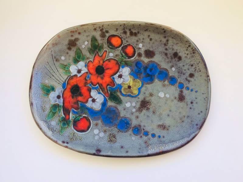 Midcentury Modern Art Pottery irregular Wall Plate Vallauris France 1960's