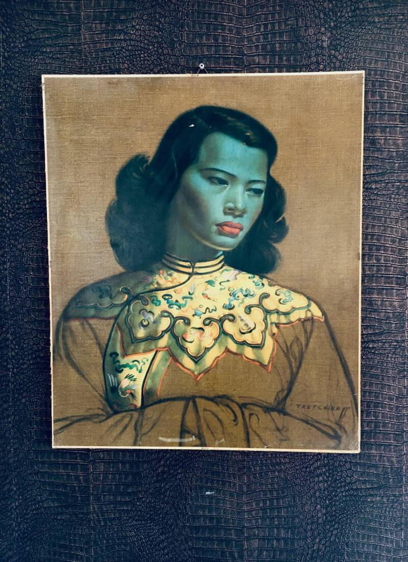 Iconic Midcentury Art Print 'The Chinese Girl' by Vladimir Tretchikoff 1960's