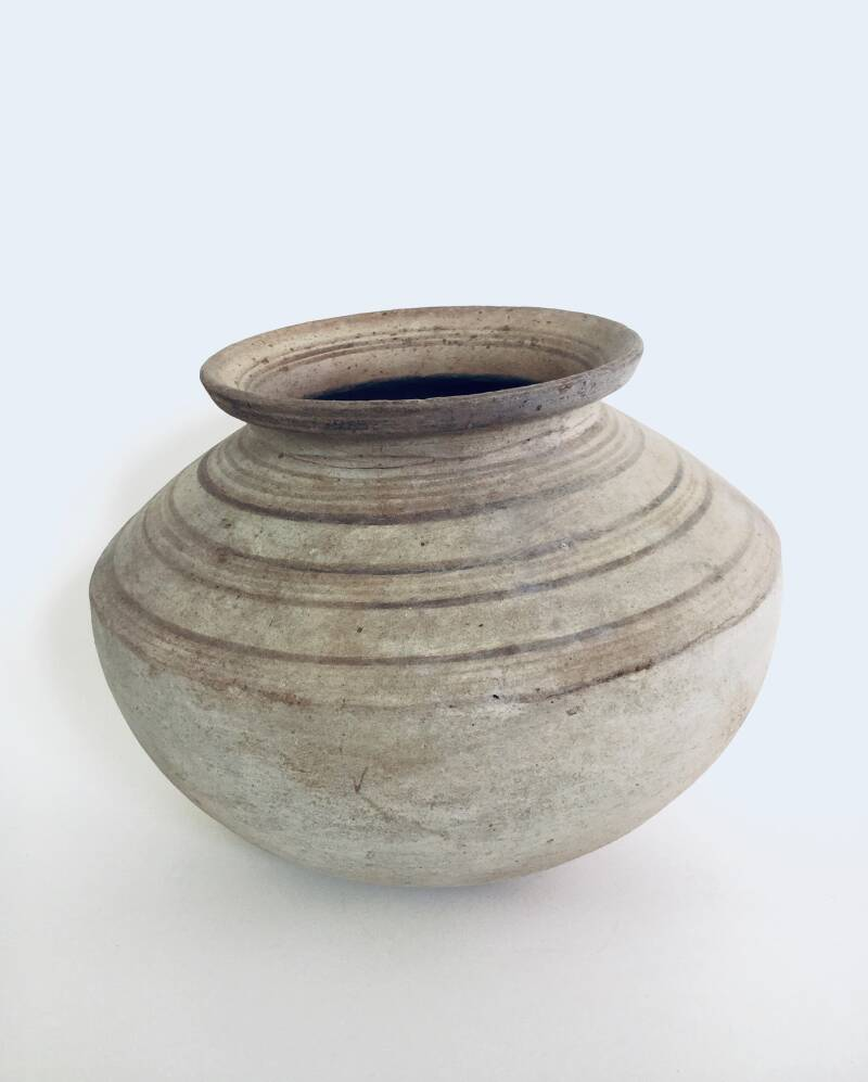 Handcrafted Pottery Container Pot, early 1900's Hungary