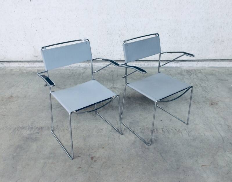 Post Modern Design 2 Dining Chairs by Giandomenico Belotti for Alias, Italy 1980's