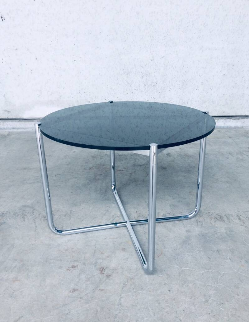 Midcentury Modern Design Side Table by Mies Van Der Rohe for Knoll 1970's