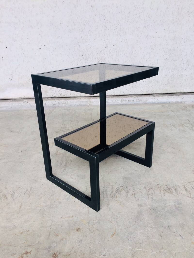 Modernist Design G shape Side Table by Belgochrom, 1970's