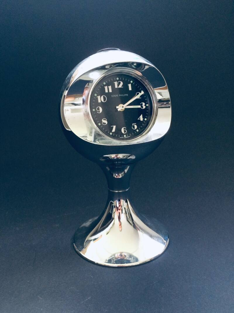 Vintage Space Age Design Clock by Louis Philippe, West-Germany 1960's