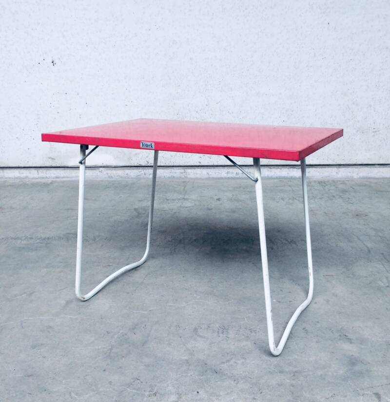 Vintage 1950's Design Metal Foldable Garden PicNic Table by Torck, Belgium