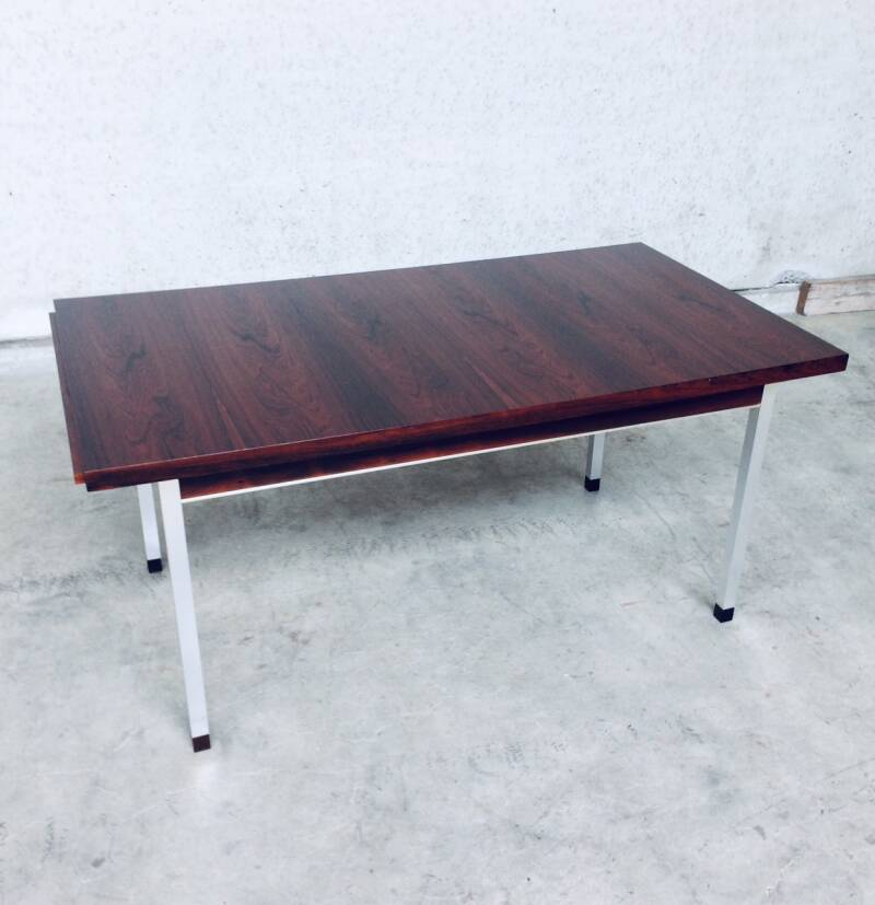 Midcentury Modern Design Extendable Dining Table in Rosewood, 1960's