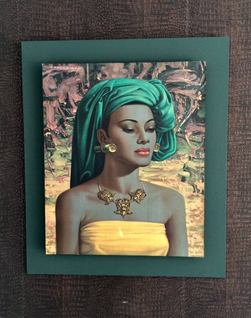 Iconic Midcentury Framed Art Print 'Balinese Girl' by Vladimir Tretchikoff 1960's