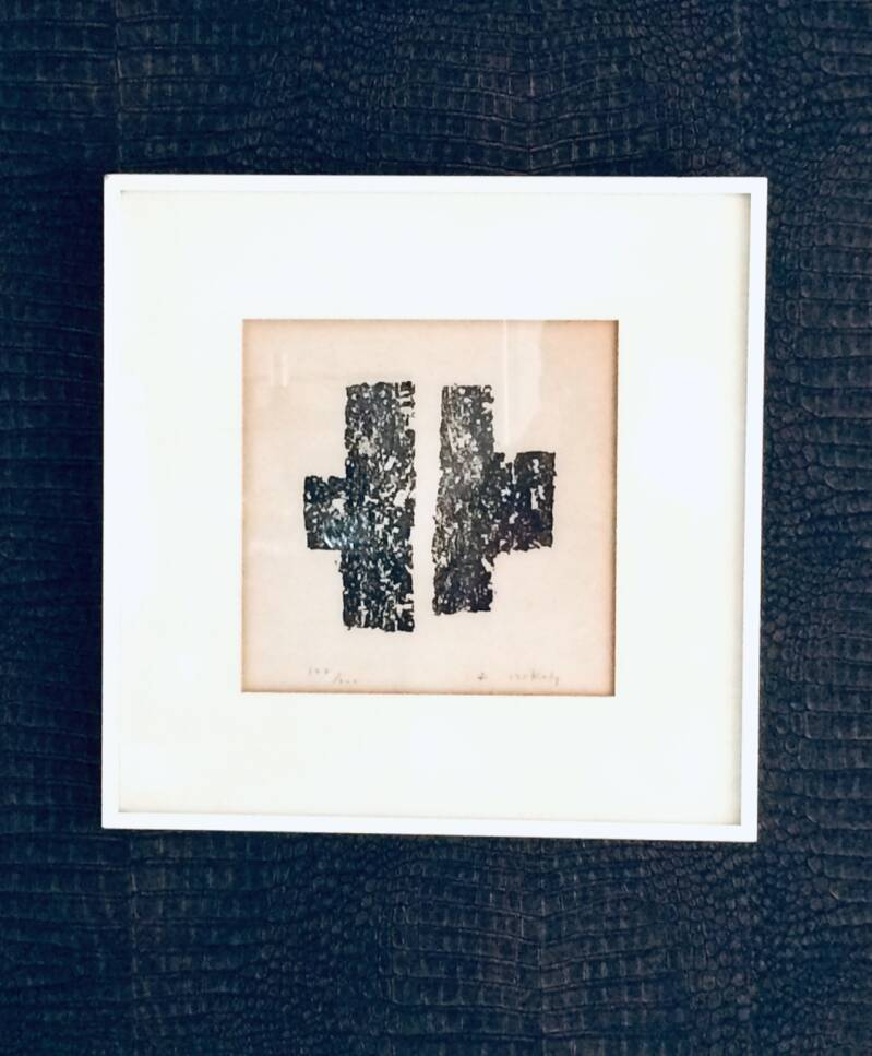 Original Abstract Art Litho Print by Pierre Szekely, 1960's