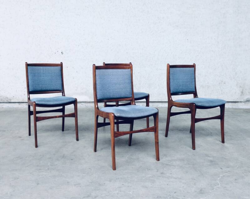 Midcentury Modern 1960's Dutch Design Set of 4 Rosewood Dining Chairs