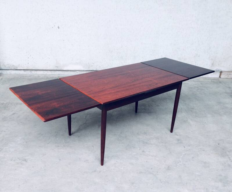 Midcentury Modern Dutch Design Rosewood Extendable Dining Table 1960's