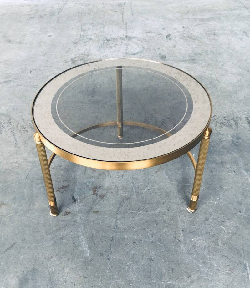 Midcentury Empire Style Design Round Side Table 1960's Italy