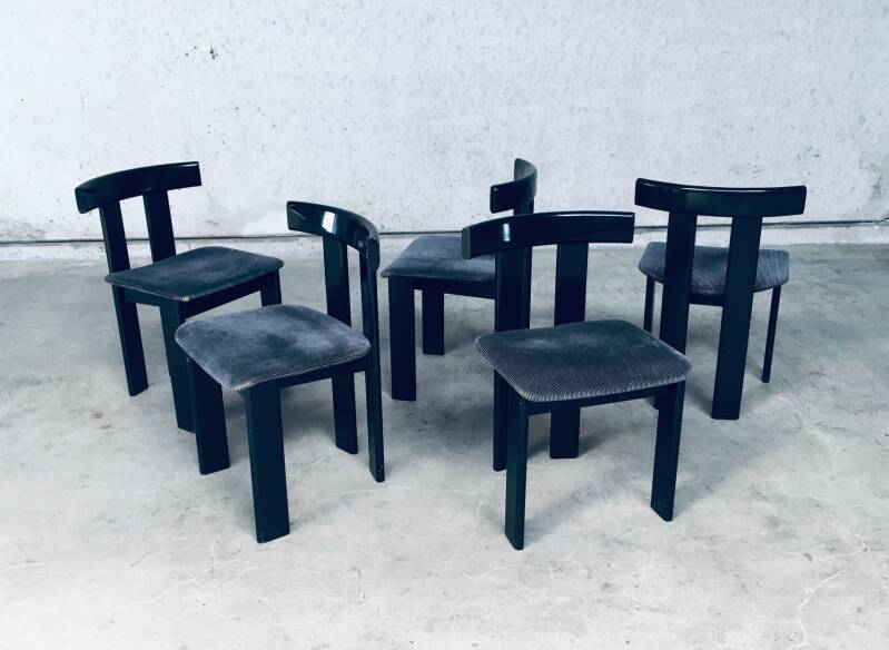 Post Modern Design set of 5 Dining Chairs 1980's Italy