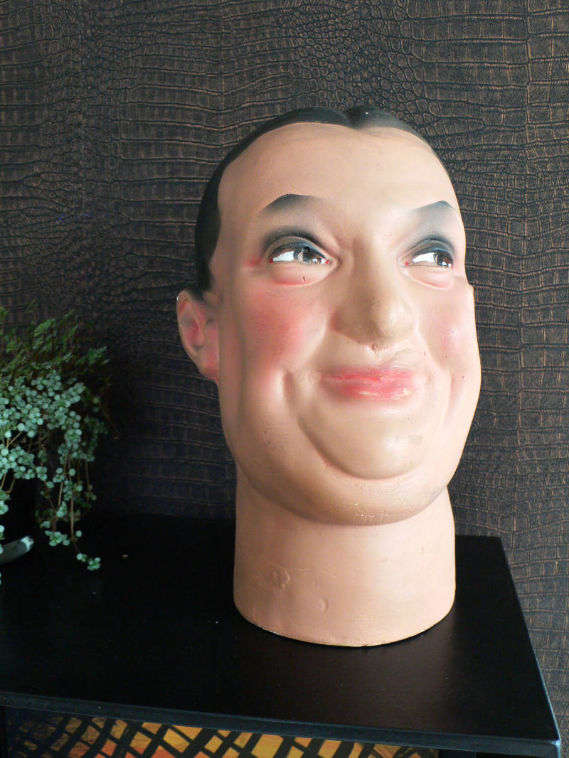 1930's Extra Size Male Man Mannequin Model Head plaster