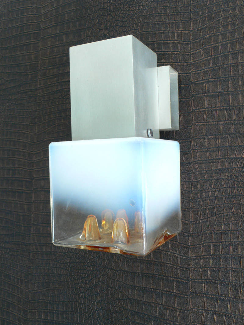 1970's Mazzega Design Murano Glass Wall Applique Lamp
