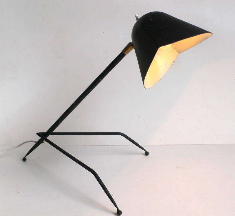 Vintage in Style of Serge Mouille 1950's Design Lampe TREPIED Desk Lamp