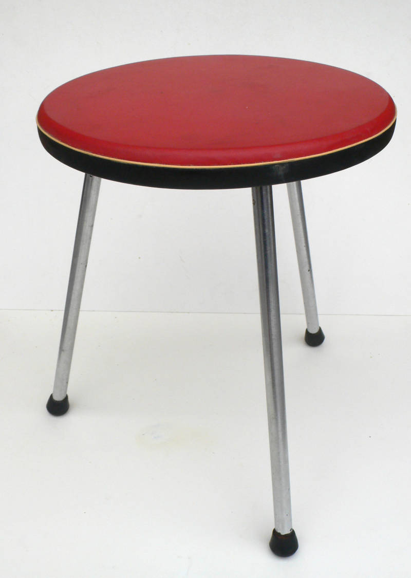 Midcentury Modern 1950's Kitchen Tripod Stool by Tacke Hocker, Germany