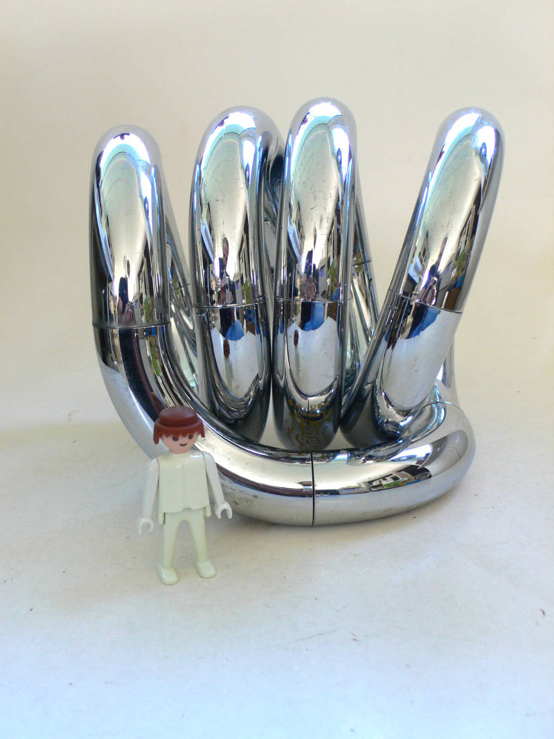 1981 Museum Chrome Tangle Art Transformable Sculpture