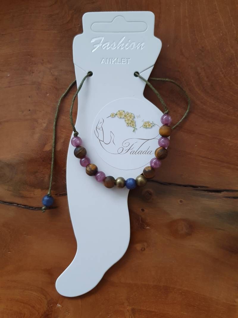Anklet ~ Frosted TigerEye