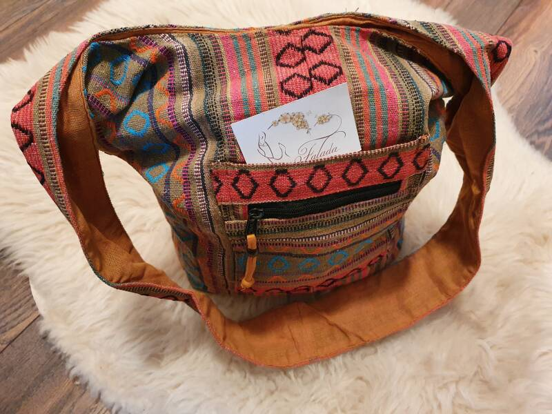 Shoulderbag ~ ZipPock Camel