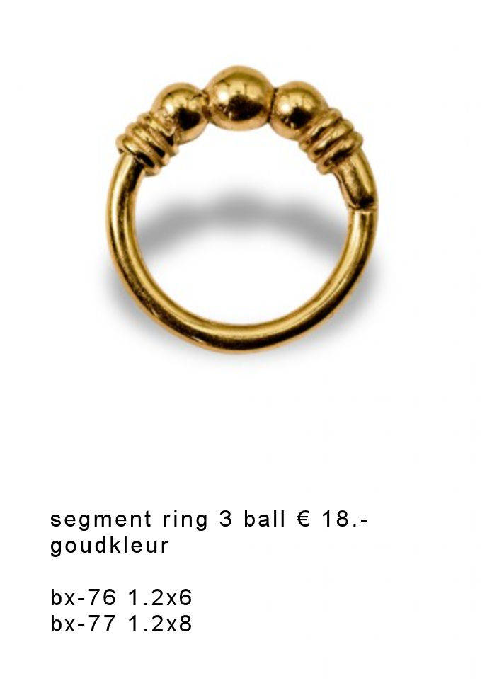 Segment ring gold 3 ball en wired gold