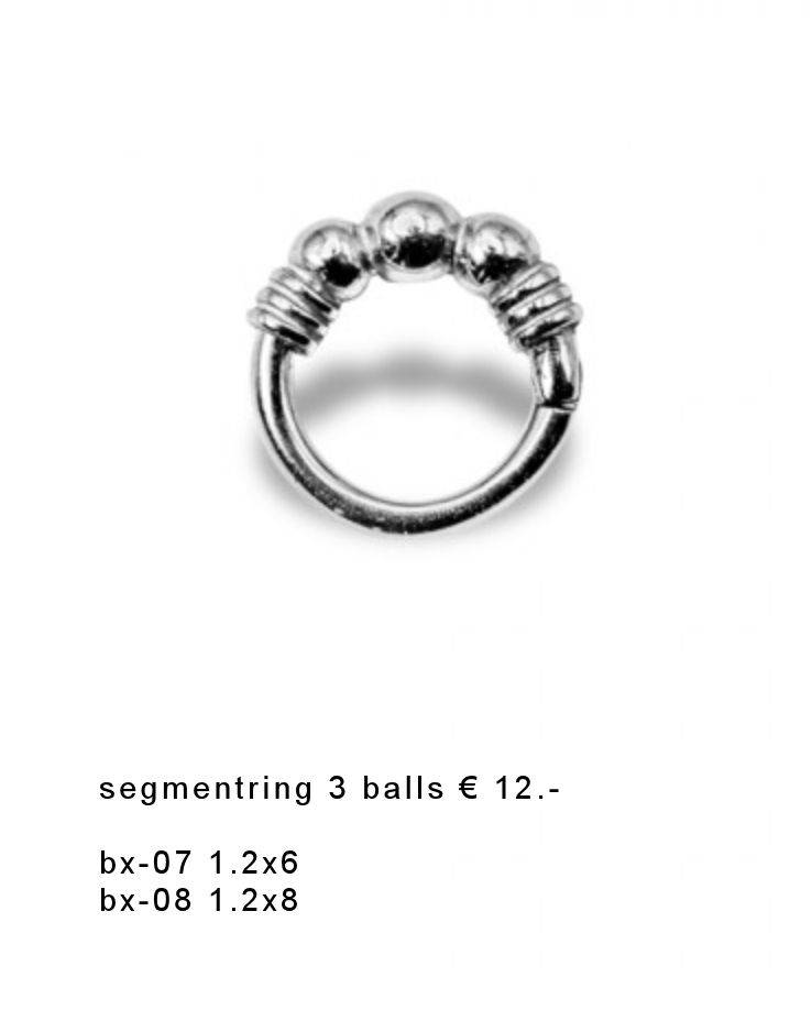 Segment ring 3 ball en wired rvs