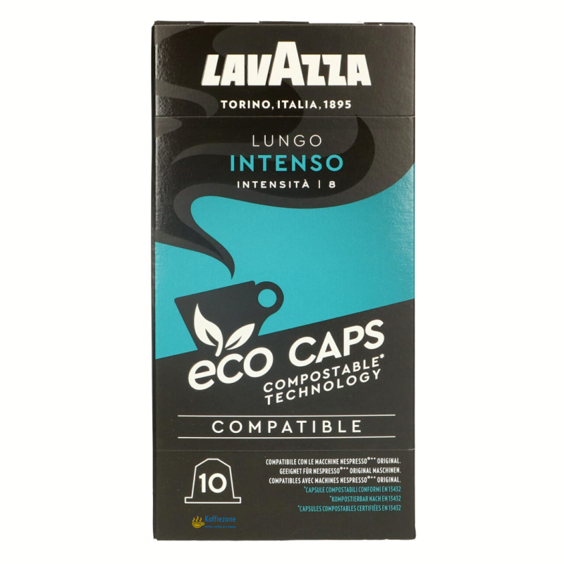 Lavazza Lungo intenso eco koffiecups. Intensiteit 8