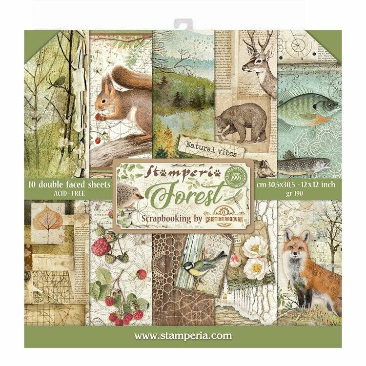 Forest Stamperia  30,5 x 30,5 paperpack